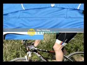 Blue Summer Road Bike Jerseys Men Short Sleeve Free Shipping