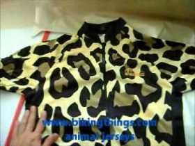 leopard animal print bike jerseys, custom apparel jerseys bikingthings.wmv