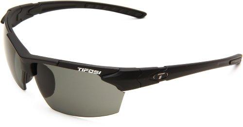 Tifosi Jet 0210500151 Polarized Wrap Sunglasses,Matte Black Frame/Smoke Lens,One Size