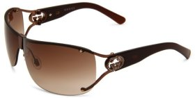 Gucci Women's 2807/S Wrap Sunglasses,Shiny Brown Frame/Brown Gradient Lens,One Size