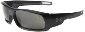 Under Armour Hammer 8600014-4808 Polarized Wrap Sunglasses,Black,54 mm