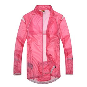Santic NEW Design Women's Super Light Wind Rain Coat Bicycle Waterproof Jacket Full-zipper Size M