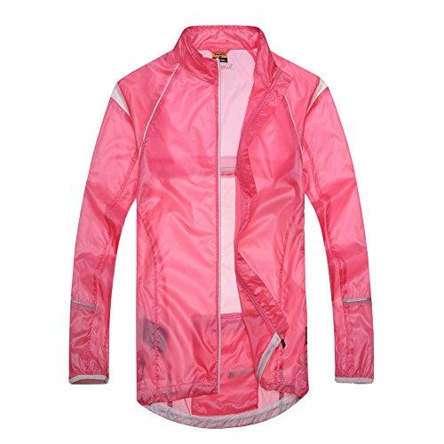 Santic NEW Design Women's Super Light Wind Rain Coat Bicycle Waterproof Jacket Full-zipper Size M