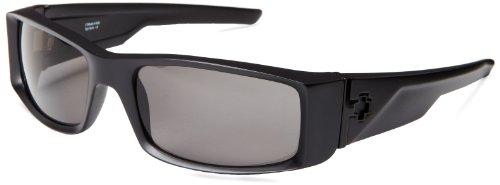 Spy Optic Hielo 670375374135 Polarized Wrap Sunglasses,Matte Black Frame/Grey Polarized Lens,One Size