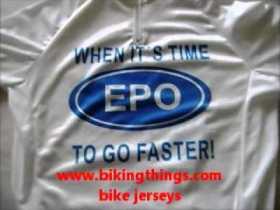 epo time to go faster bike jerseys, custom white with logo bike jersey bikingthings.wmv