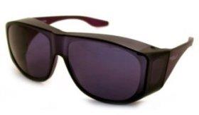 Solar Shield Square Lite Fits Over Sunglasses – Smoke