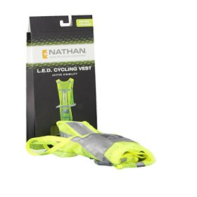 Nathan LED Cycling Vest, Hi-Viz Yellow