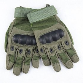 eBuy Men's Special Ops Full Finger Tactical Gloves, Military Combat Army Shooting Gloves, Cycling / Motorcycle Warm Gloves – Army Green, M