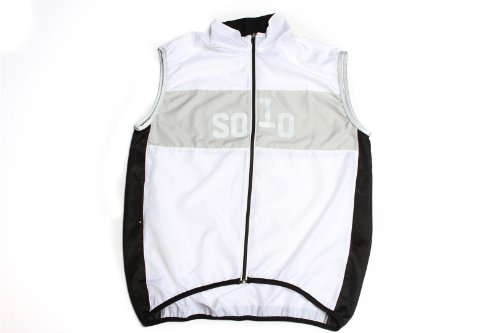Solo Cycle Clothing Equipe Cycling Gilet, White, L