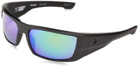 Spy Optics Dirk Matte Black Wrap Polarized Sunglasses,Black,64 mm