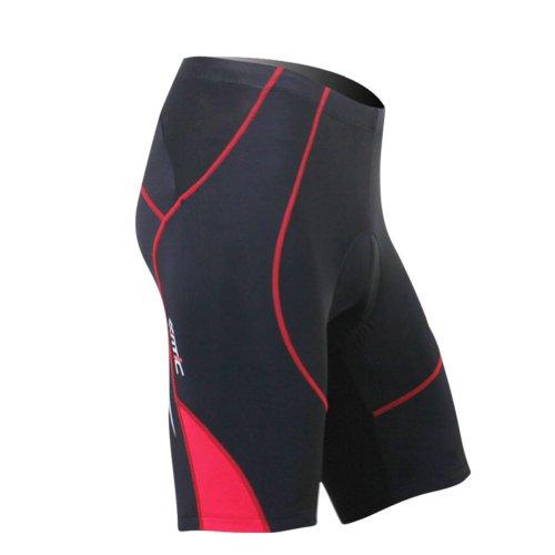 Santic Cycling Men's Shorts Biking Bicycle Bike Pants Half Pants 4D COOLMAX Padded Color Red Size L