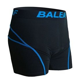 Baleaf Men's 3D Padded Bicycle Cycling Colored Underwear Shorts (Blue, S)