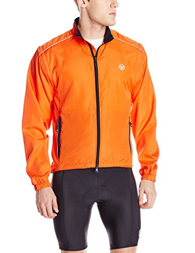 Canari Cyclewear Men's Razor Convertible Jacket, Lava, Large