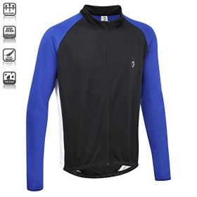 Tenn Unisex Winter Weight L/S Cycling Jersey – Black/Blue – Lrg/20