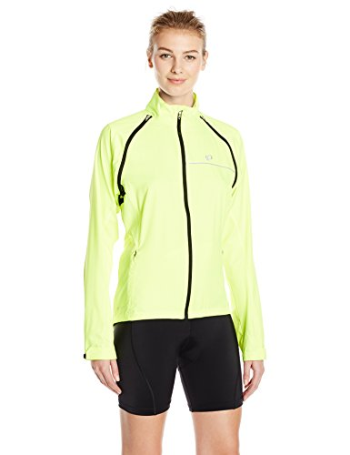 Pearl Izumi Women's Elite Barrier Convertible Cycling Jacket, Yellow, Medium