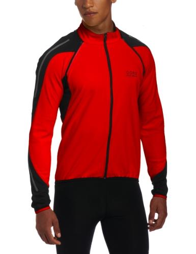 Gore Bike Wear Men's Phantom 2.0 Soft Shell Jacket, Red/Black, X-Large