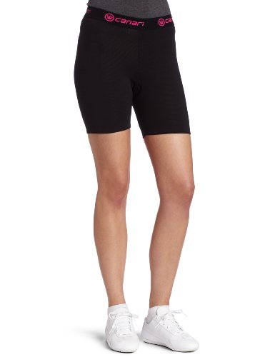 Canari Cyclewear Women's Gel Cycle Liner Padded Cycling Brief (Black, Large)