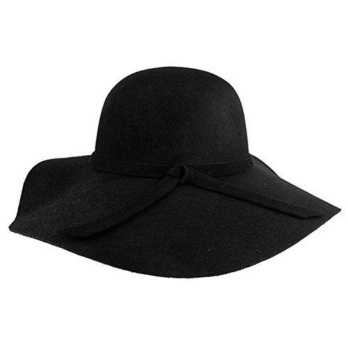 Vbiger Fashion New Women Vintage Wool Round Fedora Cloche Cap Wool Felt Bowler Hat