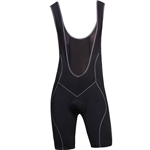 BikeAnything Men's Cycling Bib Shorts 4D Padded Coolmax Black