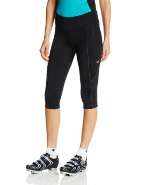 Pearl Izumi Women's W Sugar Cycling 3/4 Tights, Black Solid, Large