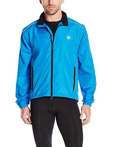 Canari Cyclewear Men's Razor Convertible Jacket, Breakaway Blue, X-Large