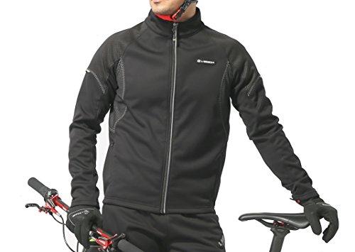 winter cycling jacket men 39 s waterproof med black. Black Bedroom Furniture Sets. Home Design Ideas