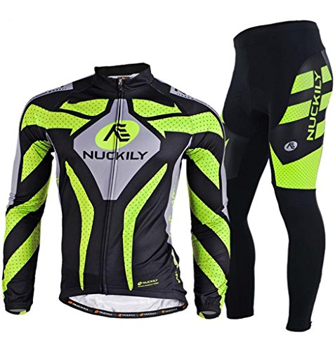 Nuckily Men's Cycling Sports long Jersey
