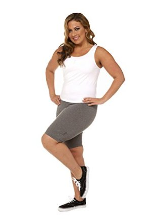 A Big Attitude Women's Plus Size Performance Bike Shorts (3X, Heather Grey)