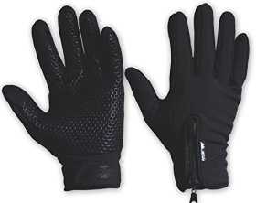 Winter Outdoor Gloves-Thermal, Breathable, Comfort Fit, with Touchscreen for Running and Cycling by Mountain Made-Best Pricing of the Year (Black, Large)