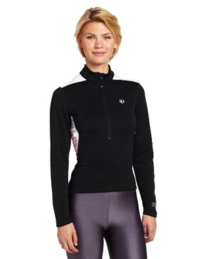 Pearl Izumi Women's Superstar Thermal Print Jersey, X-Large, Black/Berry
