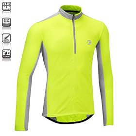 Tenn Mens Coolflo L/S Cycling Jersey – Hi-Viz Yellow/Grey – Med