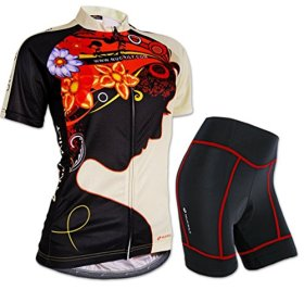 Nuckily Women's Breathable Cycling Jersey outdoor Jersey Soft Shirt Short Sleeve Fast Drying Cycling Clothing