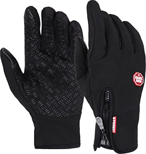 Winter Outdoor Cycling Touchscreen Driving Gloves Driving Glove for Smart Phone Black S