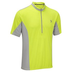 Tenn Mens Coolflo S/S Cycling Jersey – Hi-Viz Yellow/Grey – Lrg
