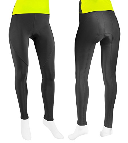 Womens Triumph Padded Cycling Tights – Made in the USA (X-Large, Black)