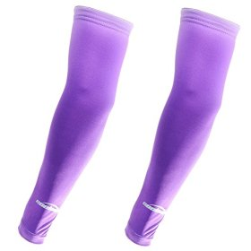 COOLOMG 2PCS CHILD KIDS Anti-slip Arm Sleeves Cover Skin Protection Sports Stretch Basketball Kids Adult Dark Purple M