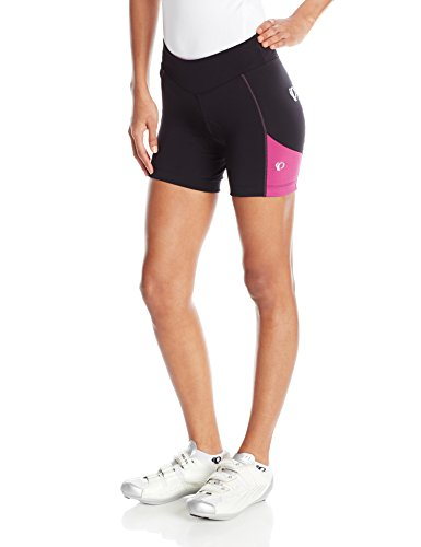 Pearl Izumi – Ride Women's Sugar Shorts, Black/Purple Wine, Large