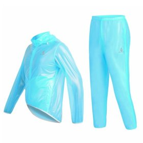 WOLFBIKE Waterproof Cycling Jacket Jersey Raincoat Pants Superlight, Fluorescent Blue, Size M