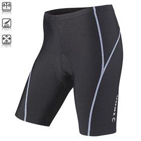 Tenn Ladies Viper 8 Panel Padded Cycling Shorts – Black/Placid Blue – 18