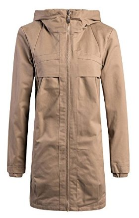 Z-SHOW® Women's Leisure Thin Loose Trench Coats(Khaki,US L/Asian 3XL)