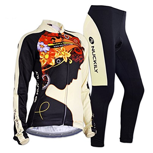 Sponeed Women's Cycle Jersey Bike Clothing Gel Padded Fresh Long Sleeve Size XL US Multi