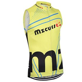 Mzcurse Men's Team Mountain Bike Cycling Short Shirt Jersey Shorts Suit Kit Set (Yellow Vest, XXX-Large,please check the size chart)