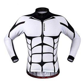 Anhvuu Unisex Long Sleeve Shirt Cycling Jerseys Warm Riding Clothing XL