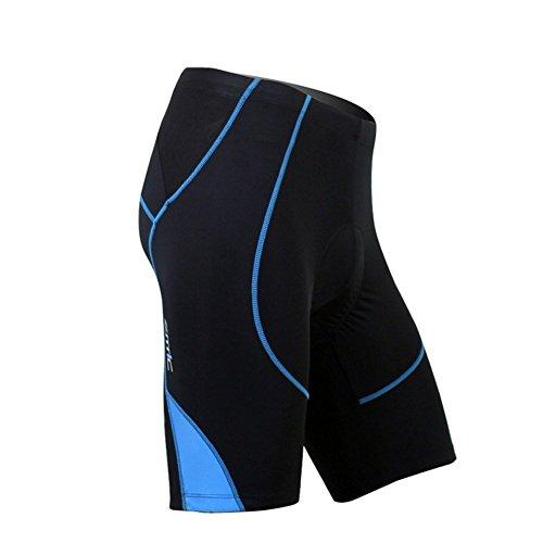 SANTIC Cycling Men's Shorts Biking Bicycle Bike Pants Half Pants 4D COOLMAX Padded Blue M