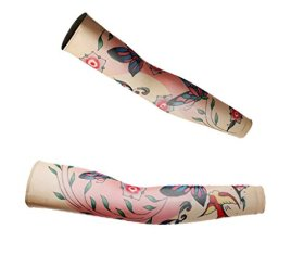 ZQXPP Z158 Tattoo Sport Arm Sleeve Cycling Sun Protective Uv Cover Arm Sleeves-1 Pair Color3