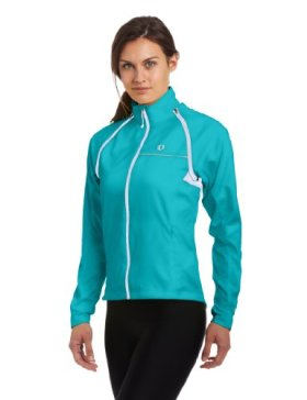 Pearl Izumi Women's Elite Barrier Convertible Cycling Jacket, Scuba Blue, X-Large