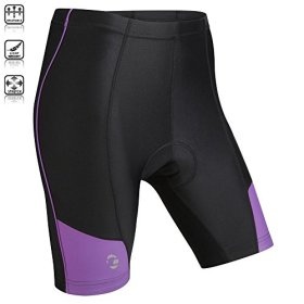 Tenn Ladies Coolflo 8 Panel Padded Cycling Shorts – Black/Radiant Orchid – 14-16