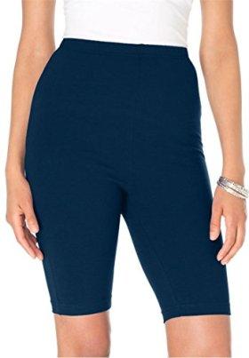 Roamans Women's Plus Size Pull On Bike Shorts