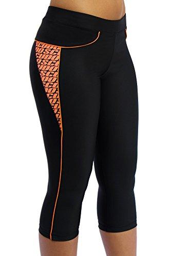 ScudoPro Capri Legging Knicker Padded Cycling Pant for Women 3/4 Orange – Size L