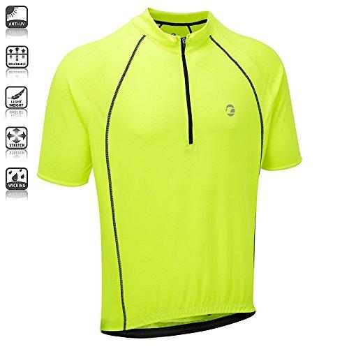 Tenn Mens Sprint S/S Cycling Shirt/Jersey – Hi-Viz Yellow – 3XL